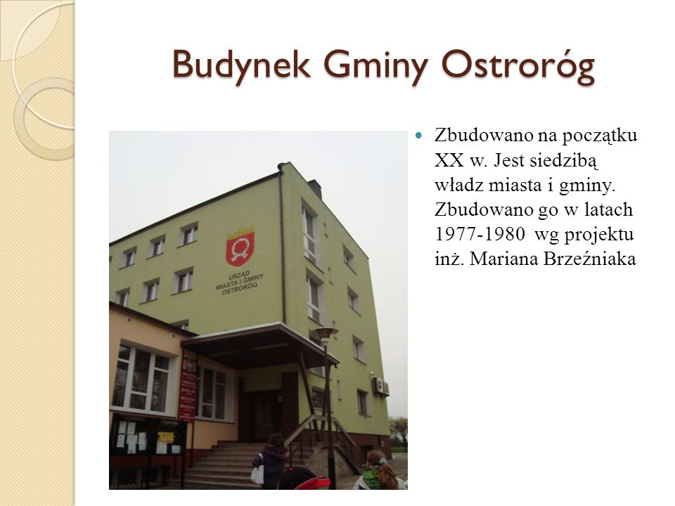 Budynek Gminy Ostroróg