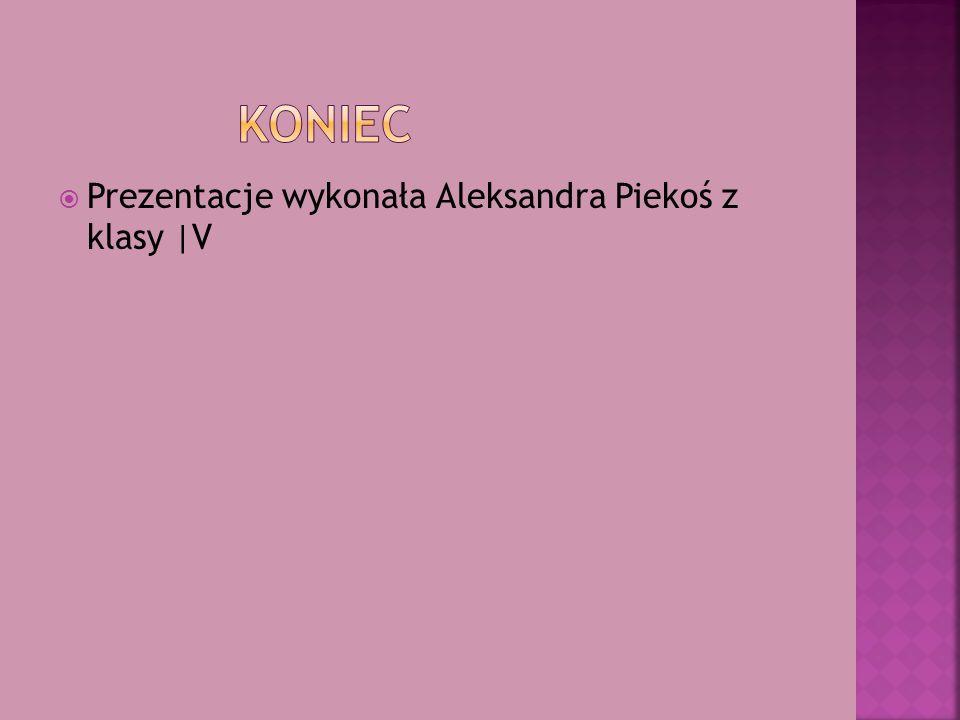 KONIEC Prezentacje wykonała Aleksandra Piekoś z klasy |V
