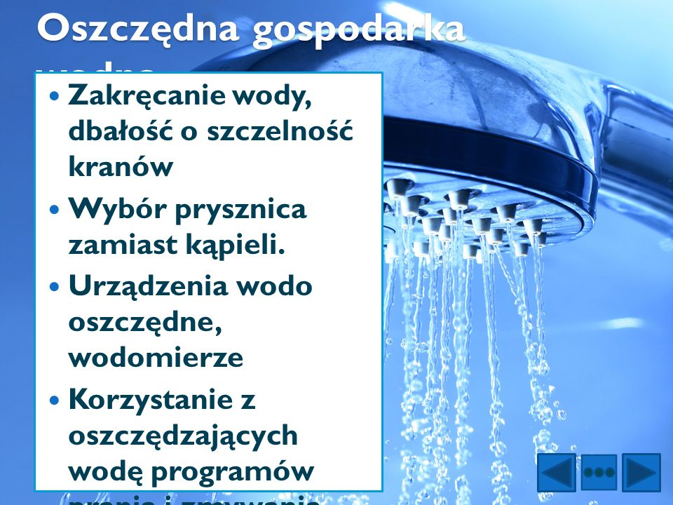 Oszczędna gospodarka wodna