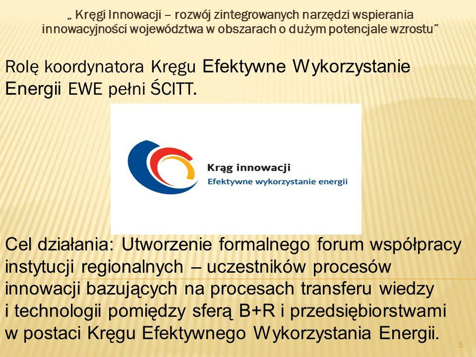 """"""" Kręgi Innowacji – rozwój zintegrowanych narzędzi wspierania innowacyjności województwa w obszarach o dużym potencjale wzrostu"""