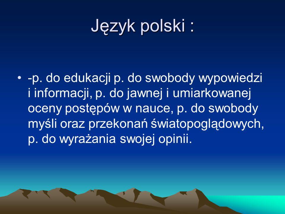 Język polski :