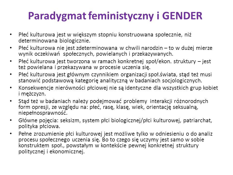 Paradygmat feministyczny i GENDER