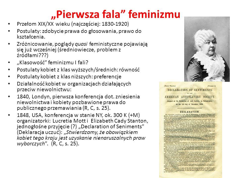 """""""Pierwsza fala feminizmu"""