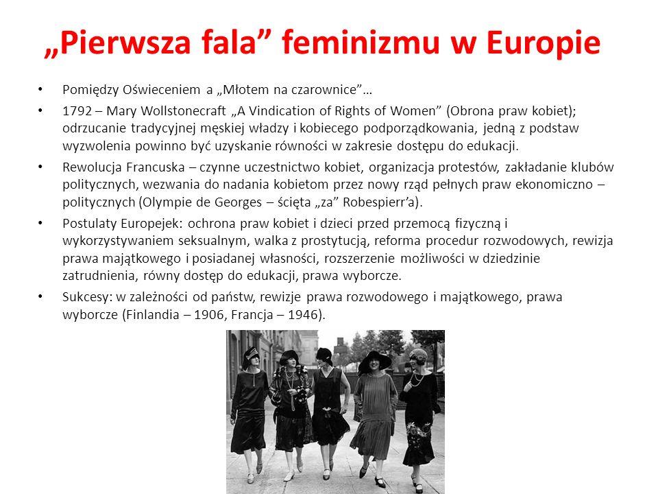 """""""Pierwsza fala feminizmu w Europie"""