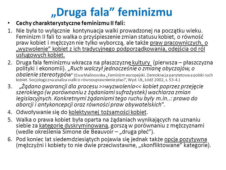 """""""Druga fala feminizmu"""