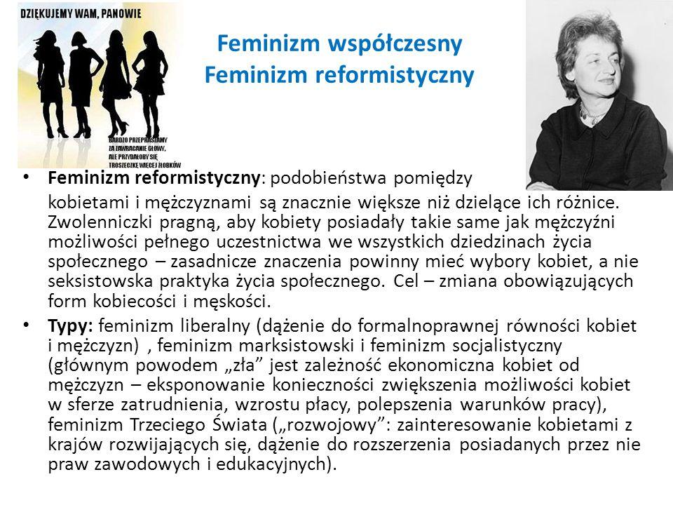 Feminizm współczesny Feminizm reformistyczny