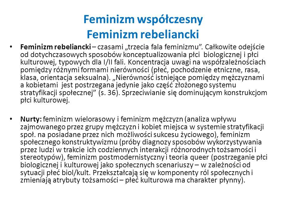 Feminizm współczesny Feminizm rebeliancki