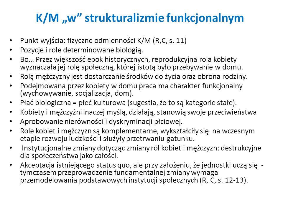 """K/M """"w strukturalizmie funkcjonalnym"""