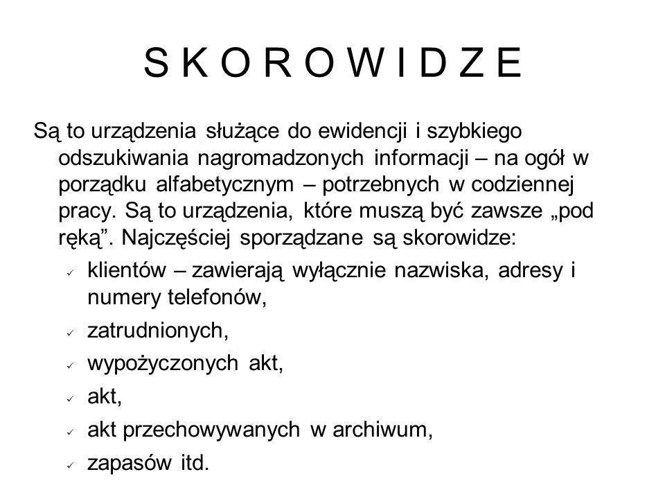 S K O R O W I D Z E