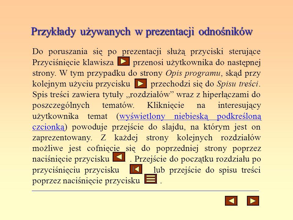 Przykłady używanych w prezentacji odnośników