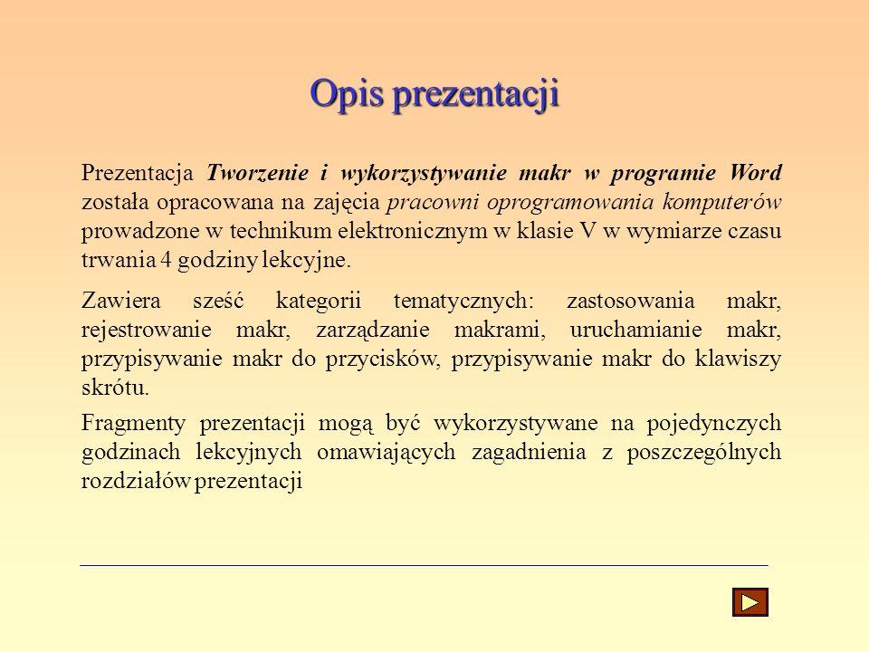Opis prezentacji