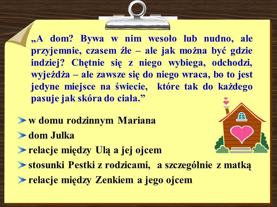 w domu rodzinnym Mariana dom Julka relacje między Ulą a jej ojcem