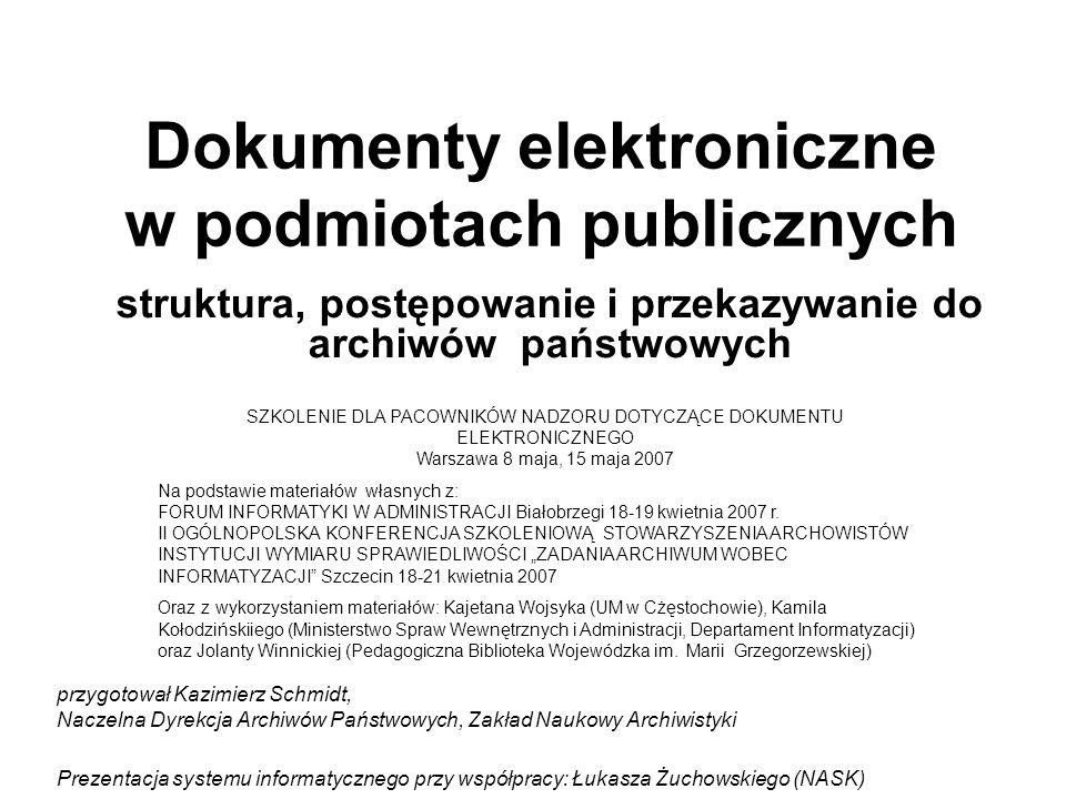 Dokumenty elektroniczne w podmiotach publicznych