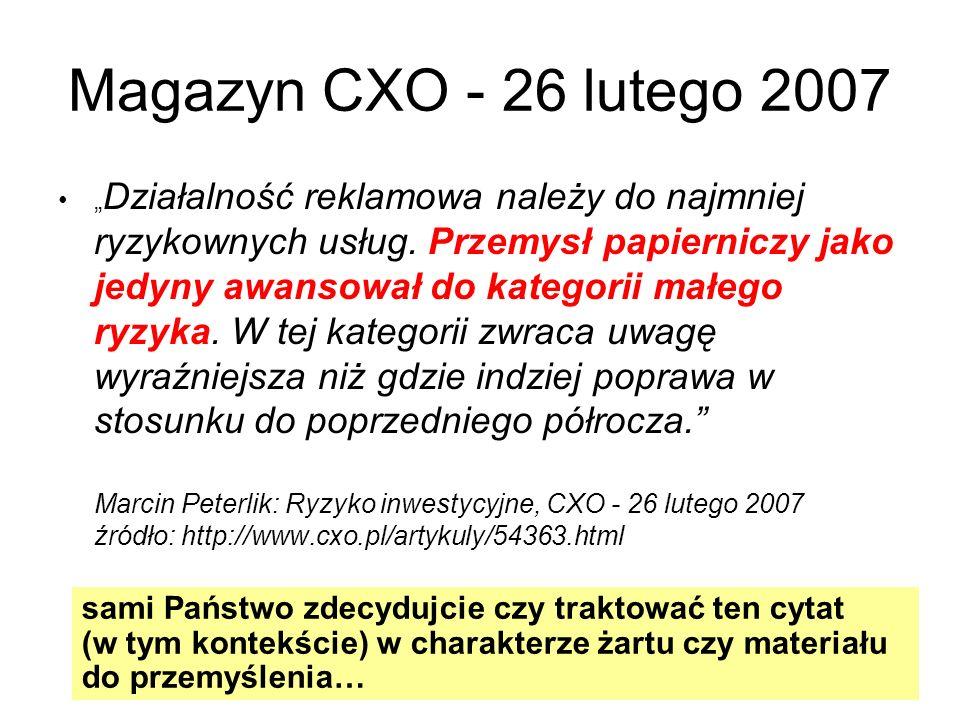 Magazyn CXO - 26 lutego 2007