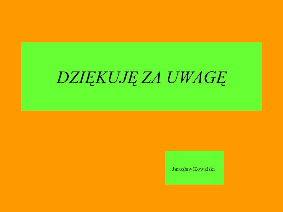 DZIĘKUJĘ ZA UWAGĘ Jarosław Kowalski
