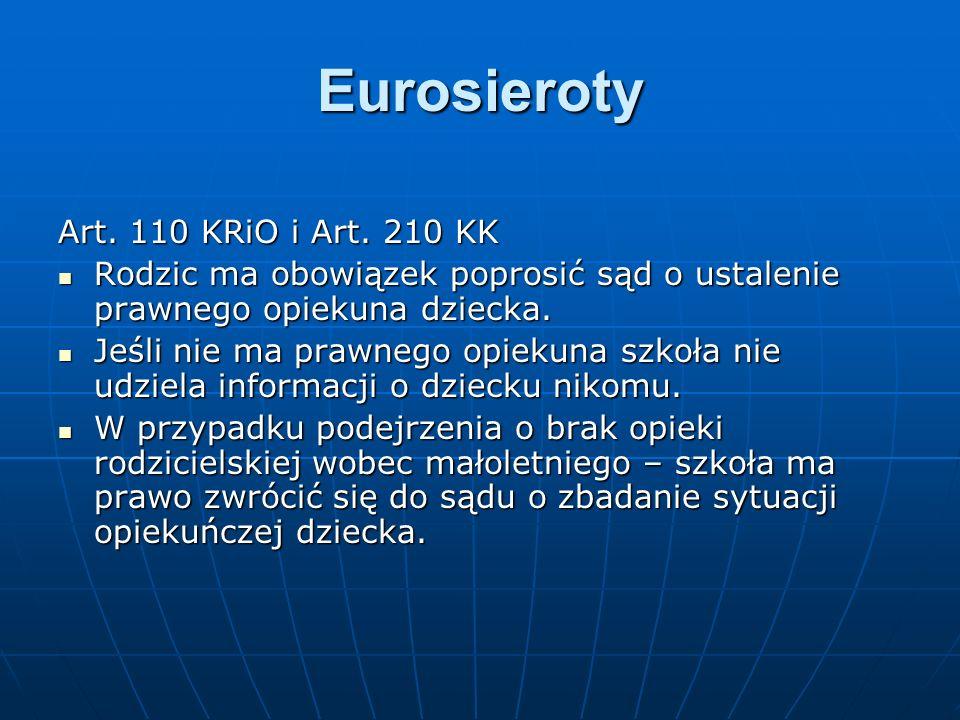 Eurosieroty Art. 110 KRiO i Art. 210 KK