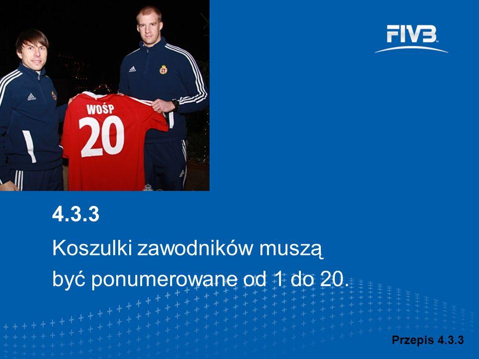 Koszulki zawodników muszą być ponumerowane od 1 do 20.