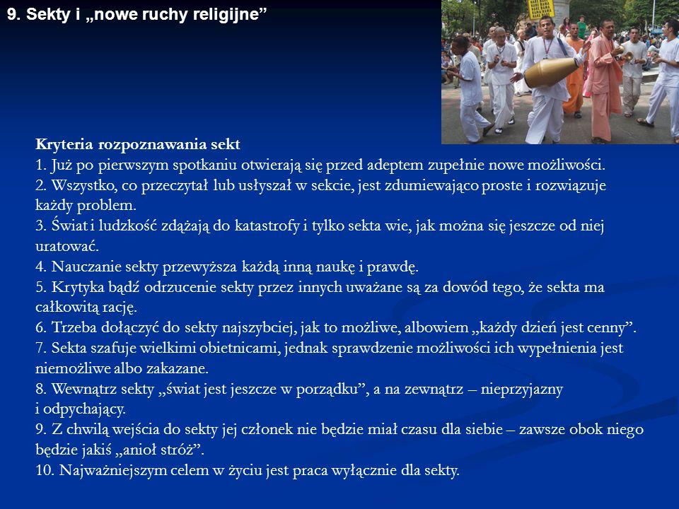 "9. Sekty i ""nowe ruchy religijne"