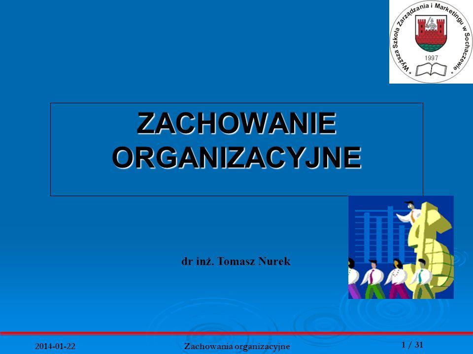 ZACHOWANIE ORGANIZACYJNE