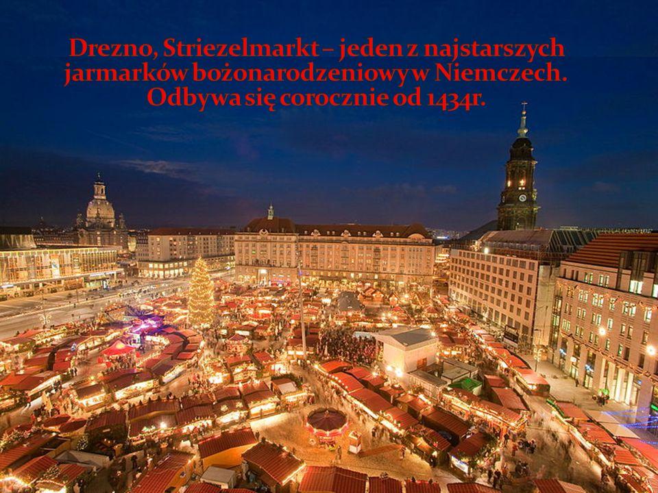 Drezno, Striezelmarkt – jeden z najstarszych jarmarków bożonarodzeniowy w Niemczech.