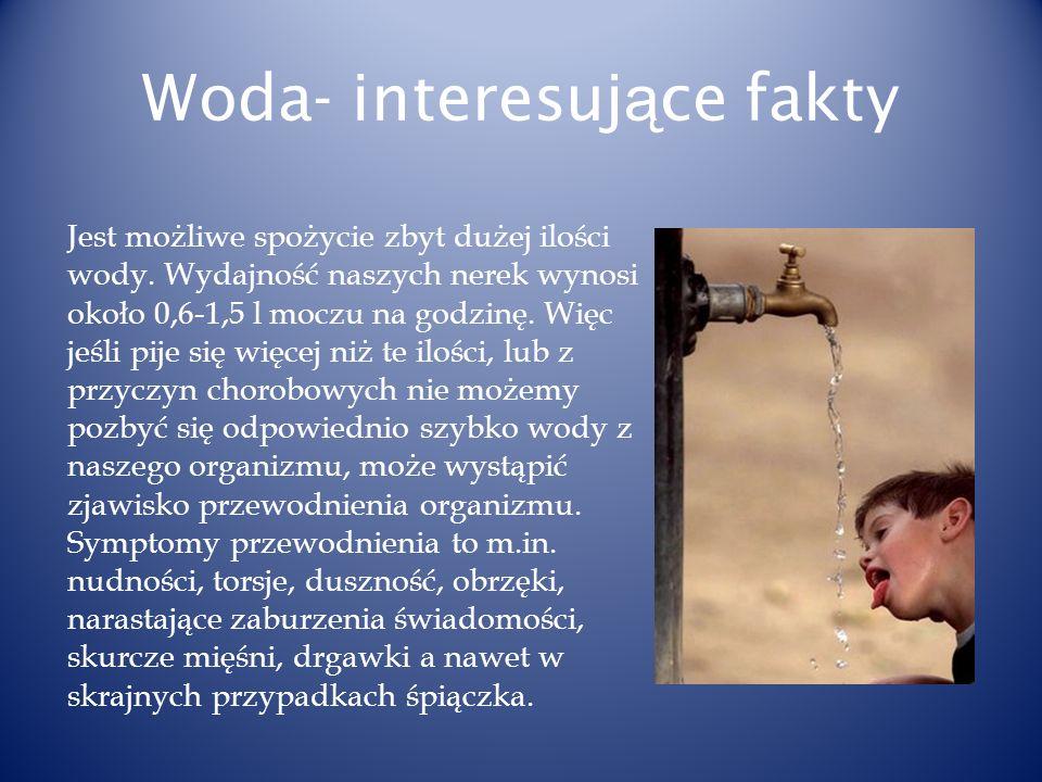 Woda- interesujące fakty