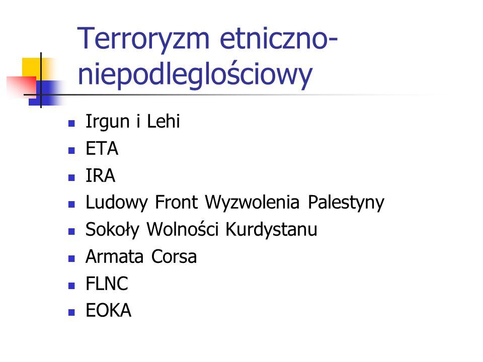 Terroryzm etniczno-niepodleglościowy