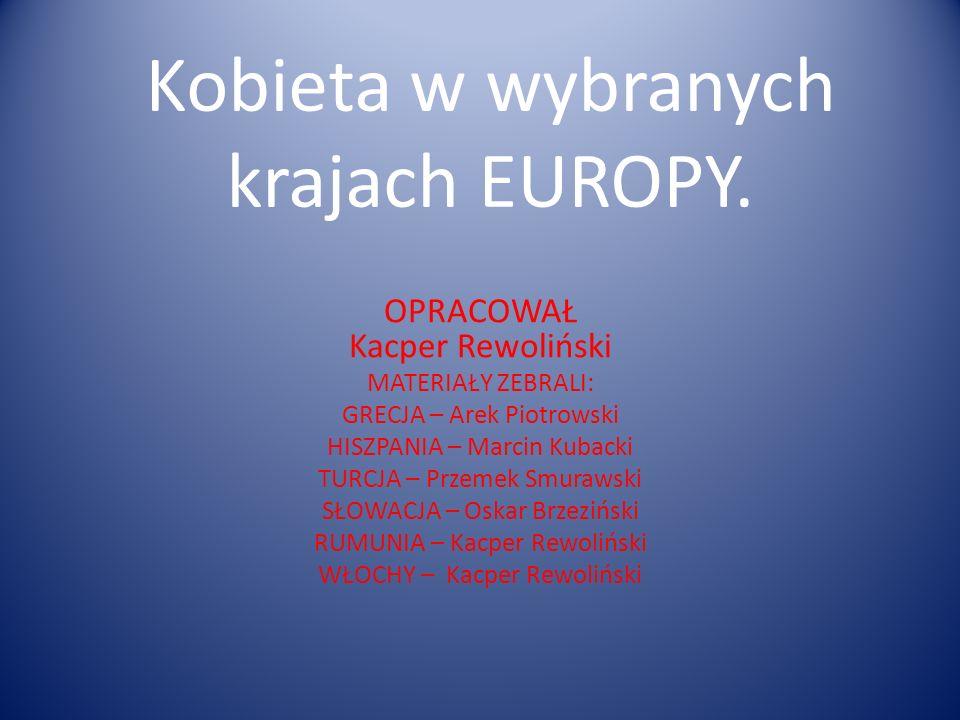 Kobieta w wybranych krajach EUROPY.