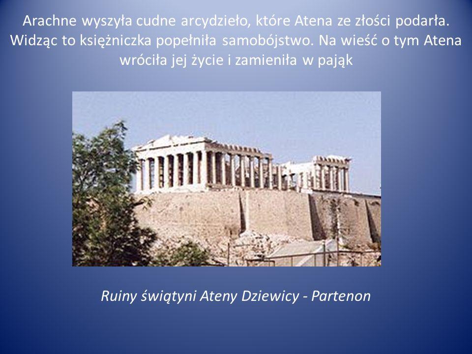 Arachne wyszyła cudne arcydzieło, które Atena ze złości podarła
