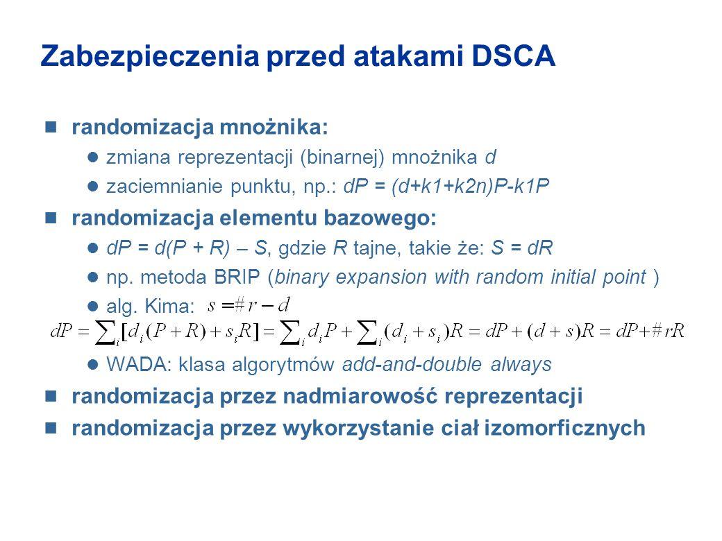 Zabezpieczenia przed atakami DSCA