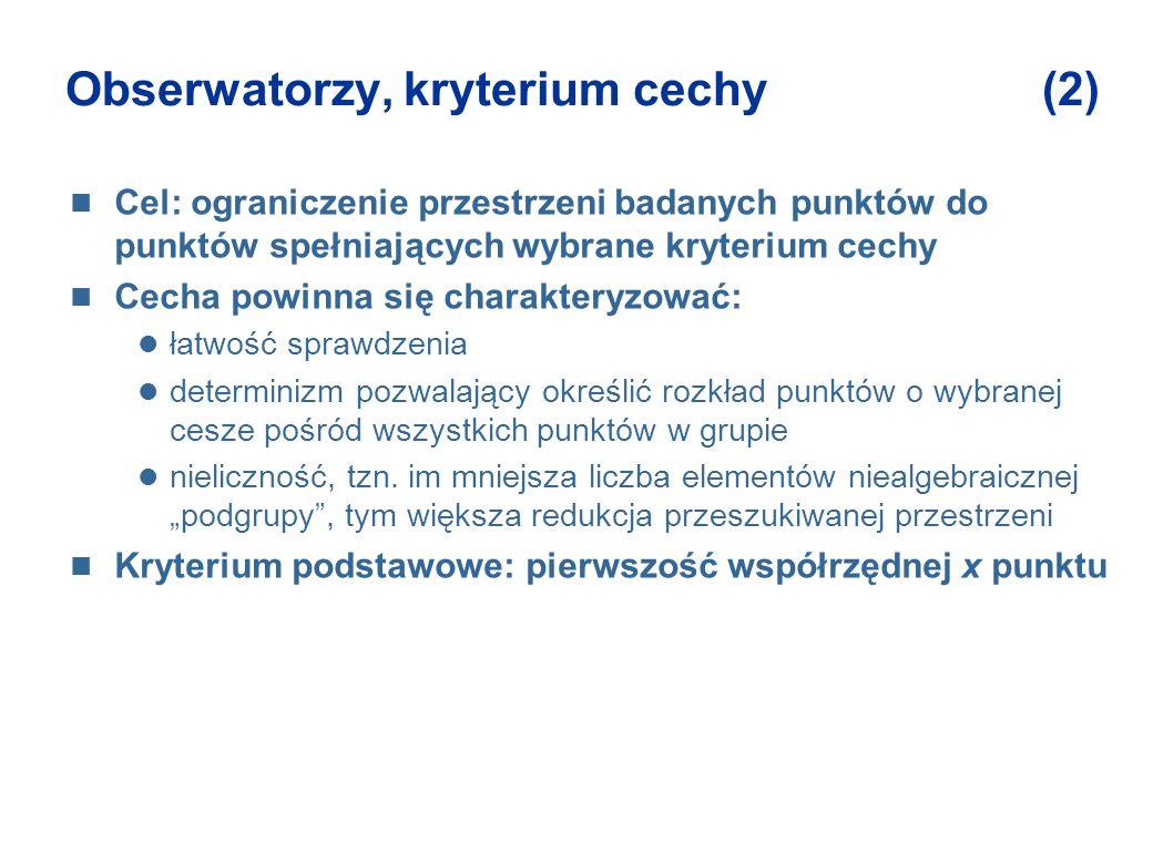 Obserwatorzy, kryterium cechy (2)
