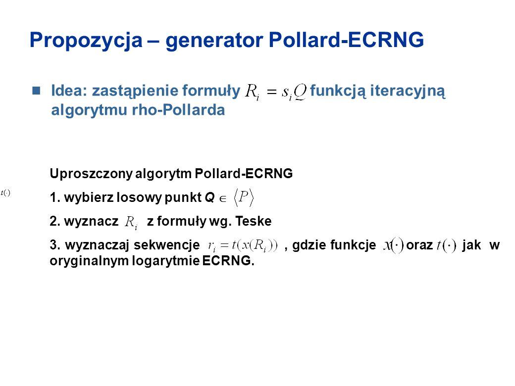 Propozycja – generator Pollard-ECRNG