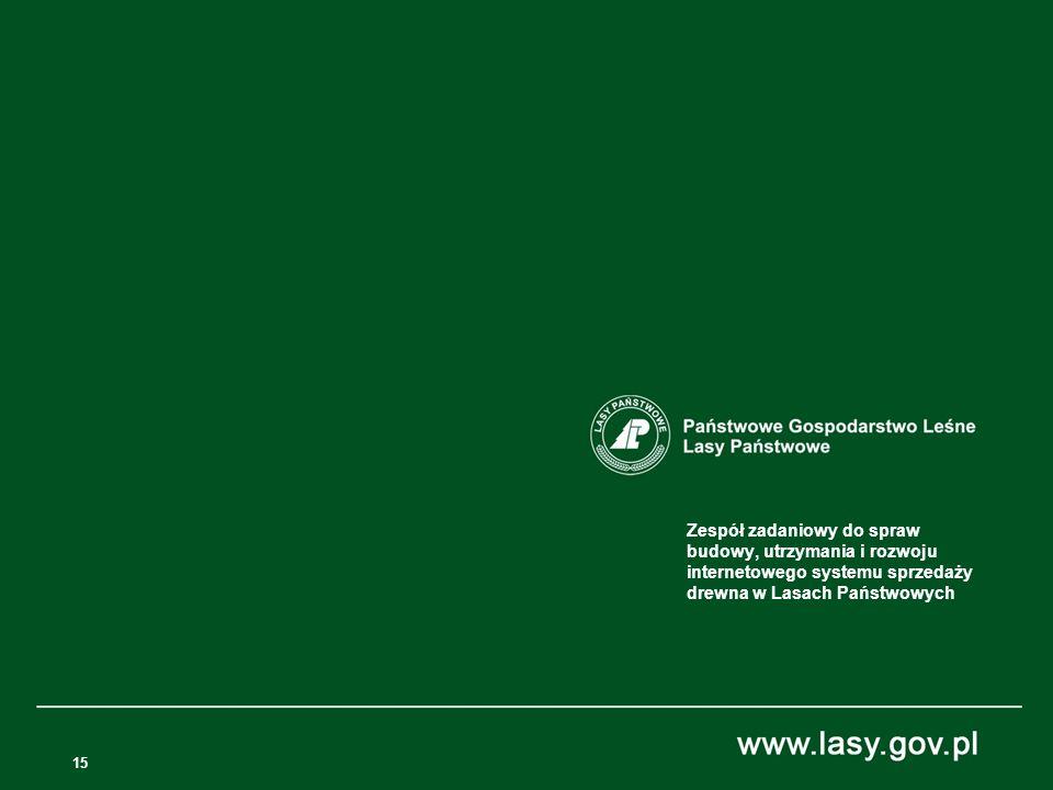 Zespół zadaniowy do spraw budowy, utrzymania i rozwoju internetowego systemu sprzedaży drewna w Lasach Państwowych