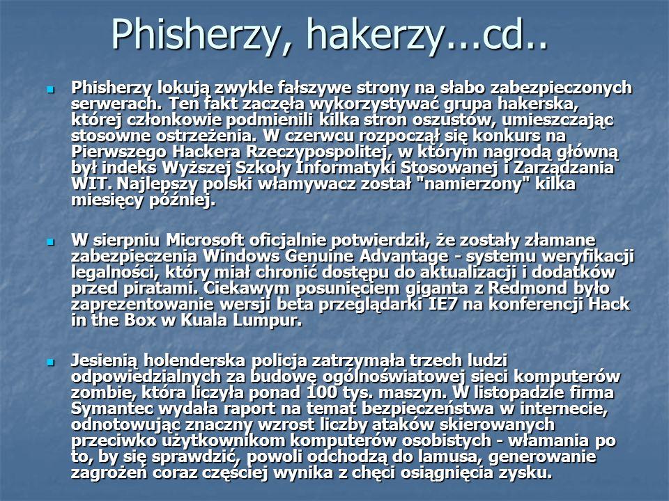 Phisherzy, hakerzy...cd..