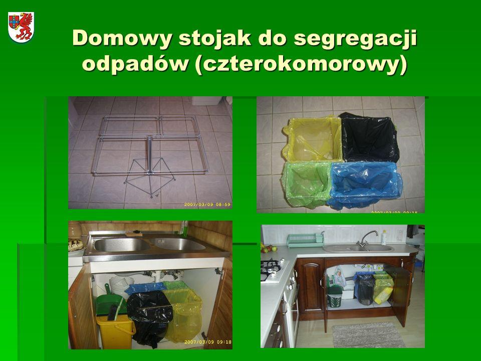 Domowy stojak do segregacji odpadów (czterokomorowy)