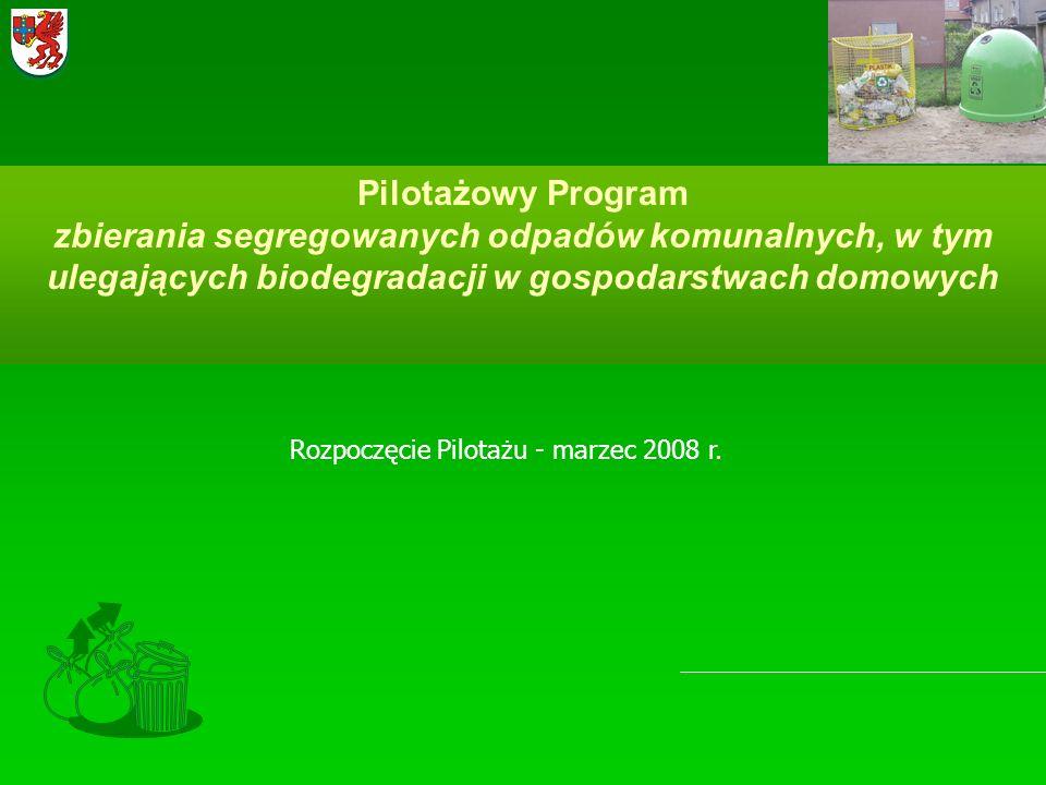 Rozpoczęcie Pilotażu - marzec 2008 r.