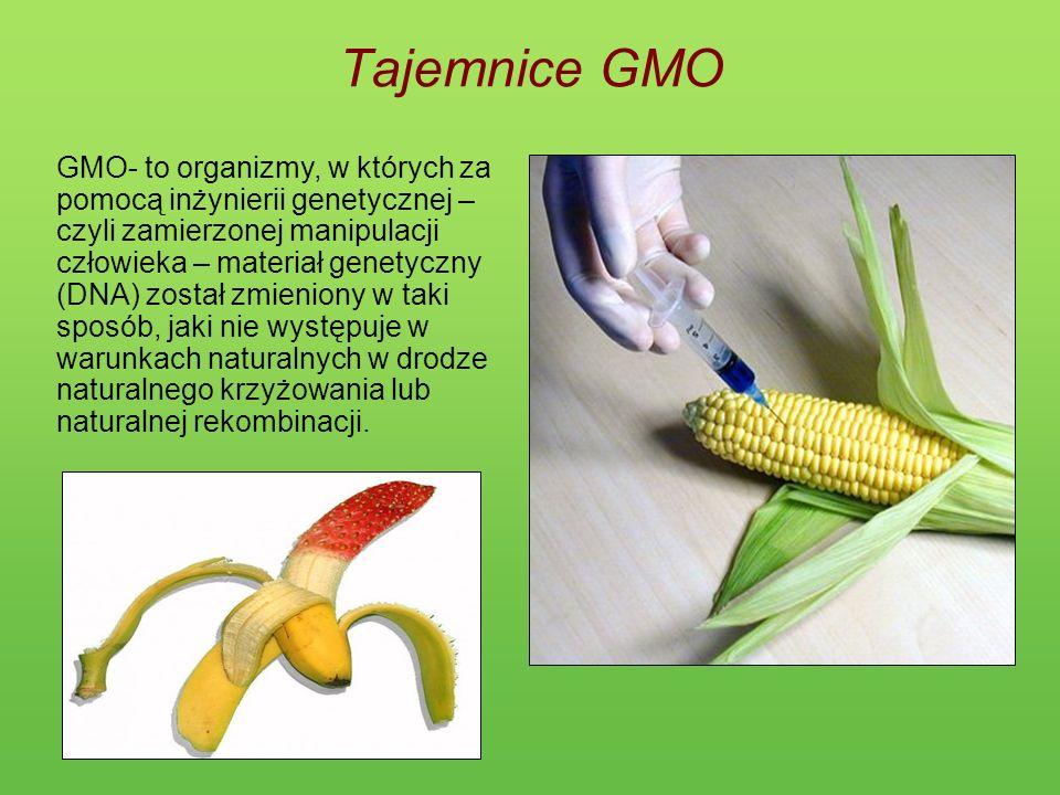 Tajemnice GMO