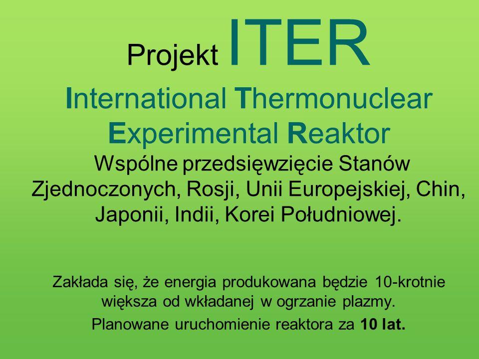 Planowane uruchomienie reaktora za 10 lat.