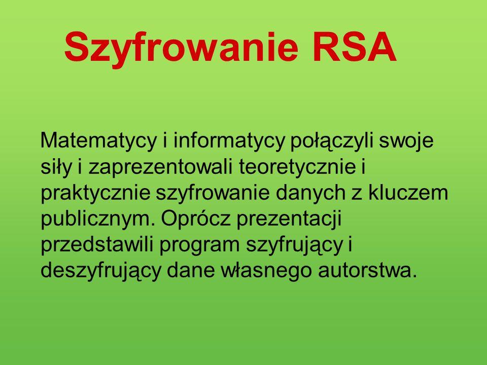 Szyfrowanie RSA