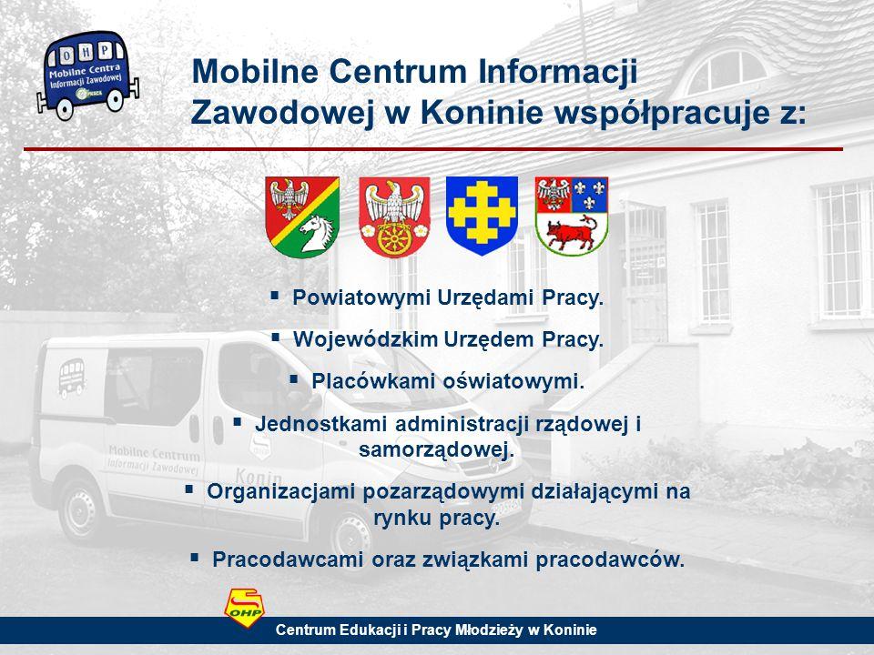 Mobilne Centrum Informacji Zawodowej w Koninie współpracuje z: