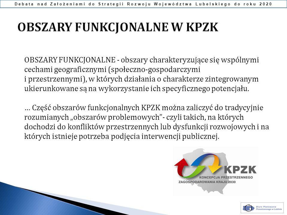 OBSZARY FUNKCJONALNE W KPZK