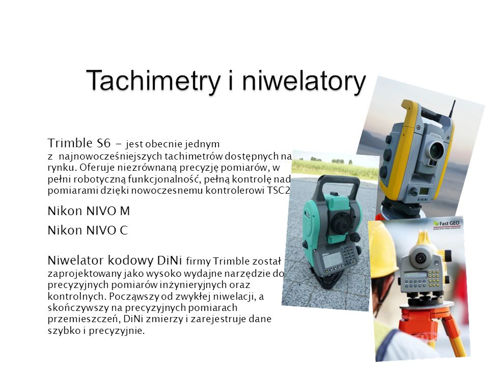 Tachimetry i niwelatory