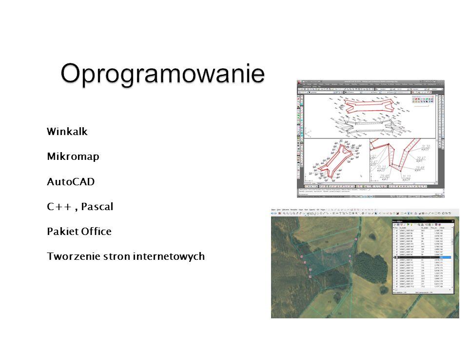 Oprogramowanie Winkalk Mikromap AutoCAD C++ , Pascal Pakiet Office