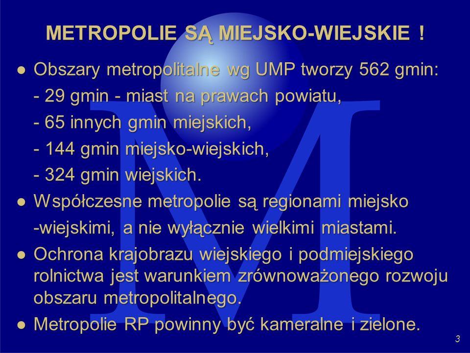 METROPOLIE SĄ MIEJSKO-WIEJSKIE !