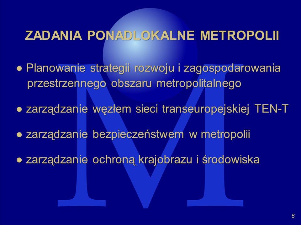 ZADANIA PONADLOKALNE METROPOLII