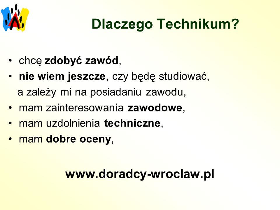 Dlaczego Technikum www.doradcy-wroclaw.pl chcę zdobyć zawód,