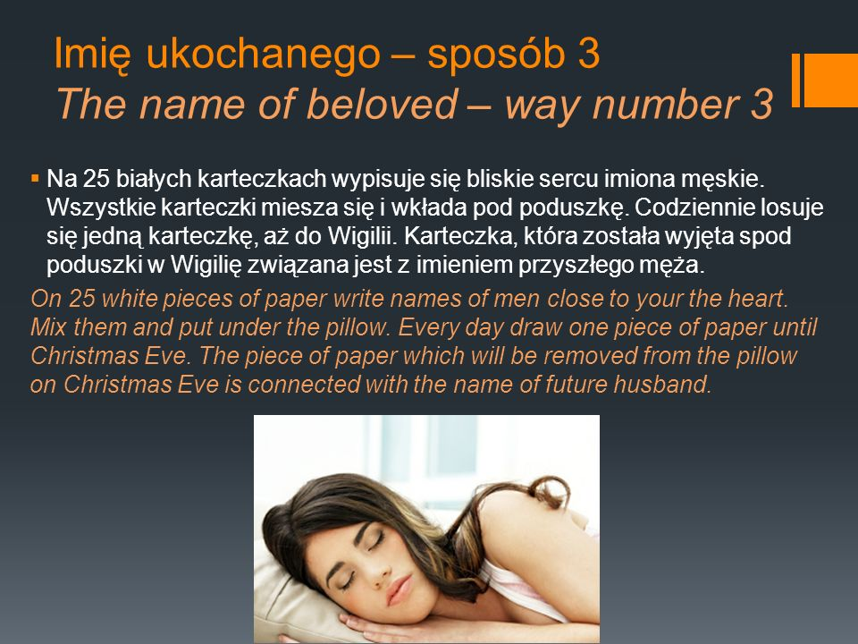 Imię ukochanego – sposób 3 The name of beloved – way number 3