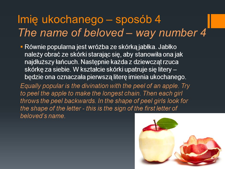 Imię ukochanego – sposób 4 The name of beloved – way number 4
