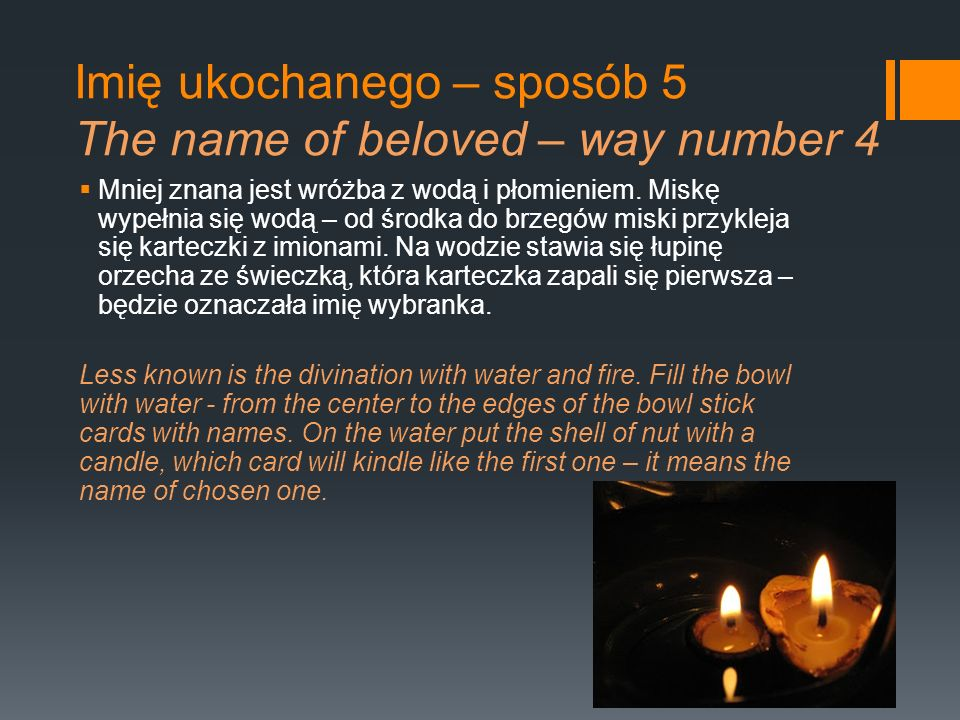 Imię ukochanego – sposób 5 The name of beloved – way number 4