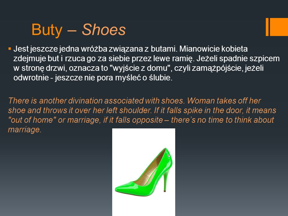 Buty – Shoes