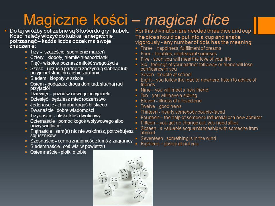Magiczne kości – magical dice